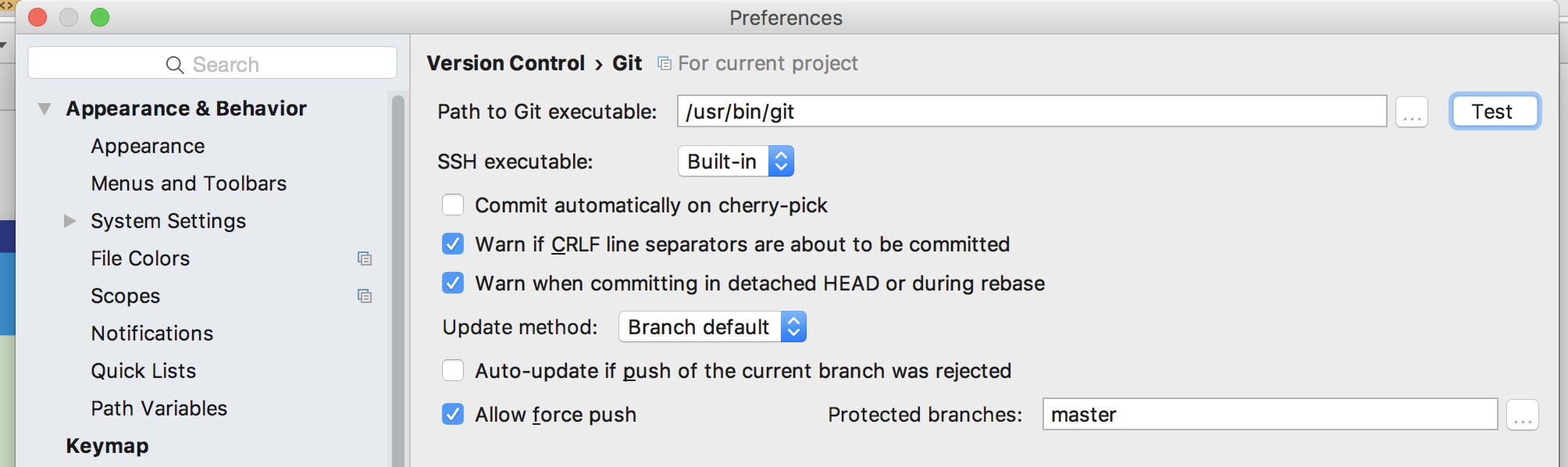 Apple maintains and ship their own fork of Git!