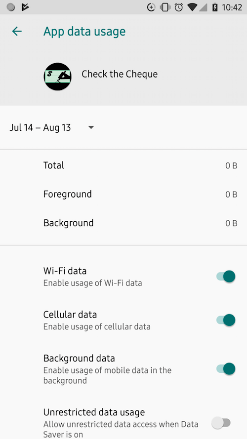 Restrict app background data