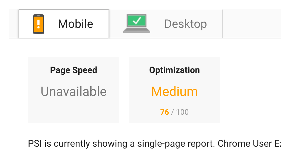 Mobile Not optimized as much, stuck at around 75 percent
