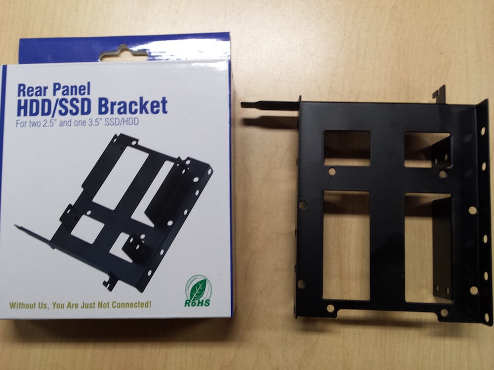 Micro Connectors Rear Panel Dual HDD/SSD Mounting Bracket Kit review