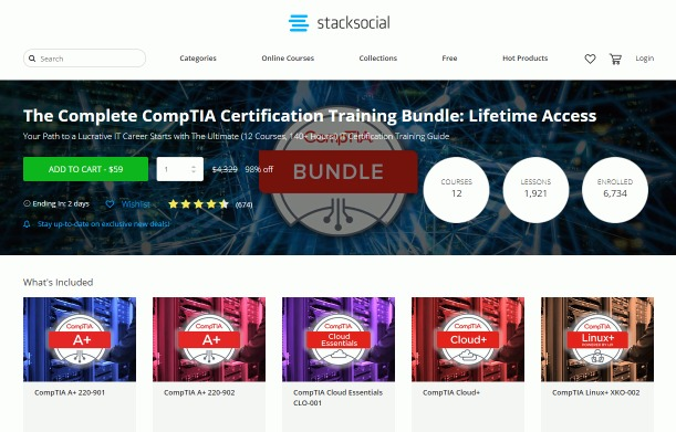 stacksocial: paid less than $40 for certification bundle