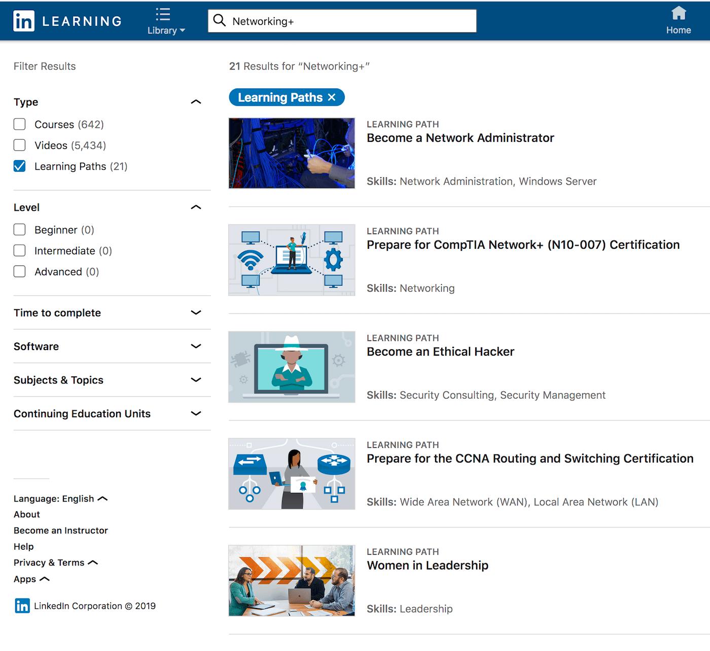 LinkedIn Learning: CompTIA Network+ (N10-007)