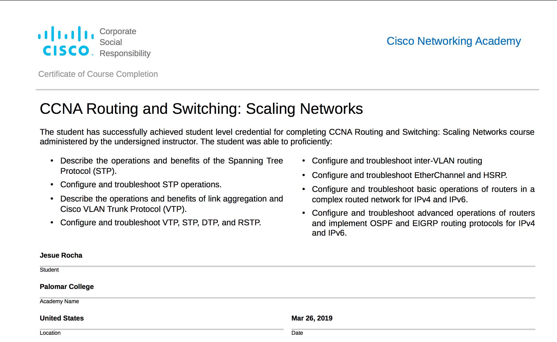 Cisco Routing & Switching (Scaling Networks) + ICND1 Exam