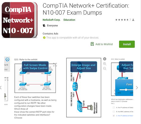 CompTIA Network+ Certification: N10-007 Exam Dumps NellaSoft Corp.