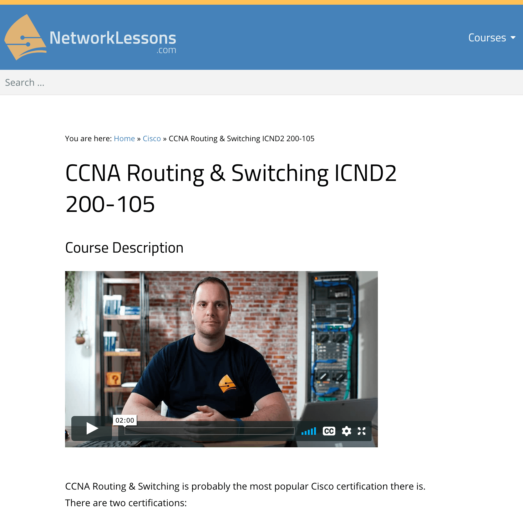 CCNA Routing & Switching ICND2 200-105 from NetworkLessons.com