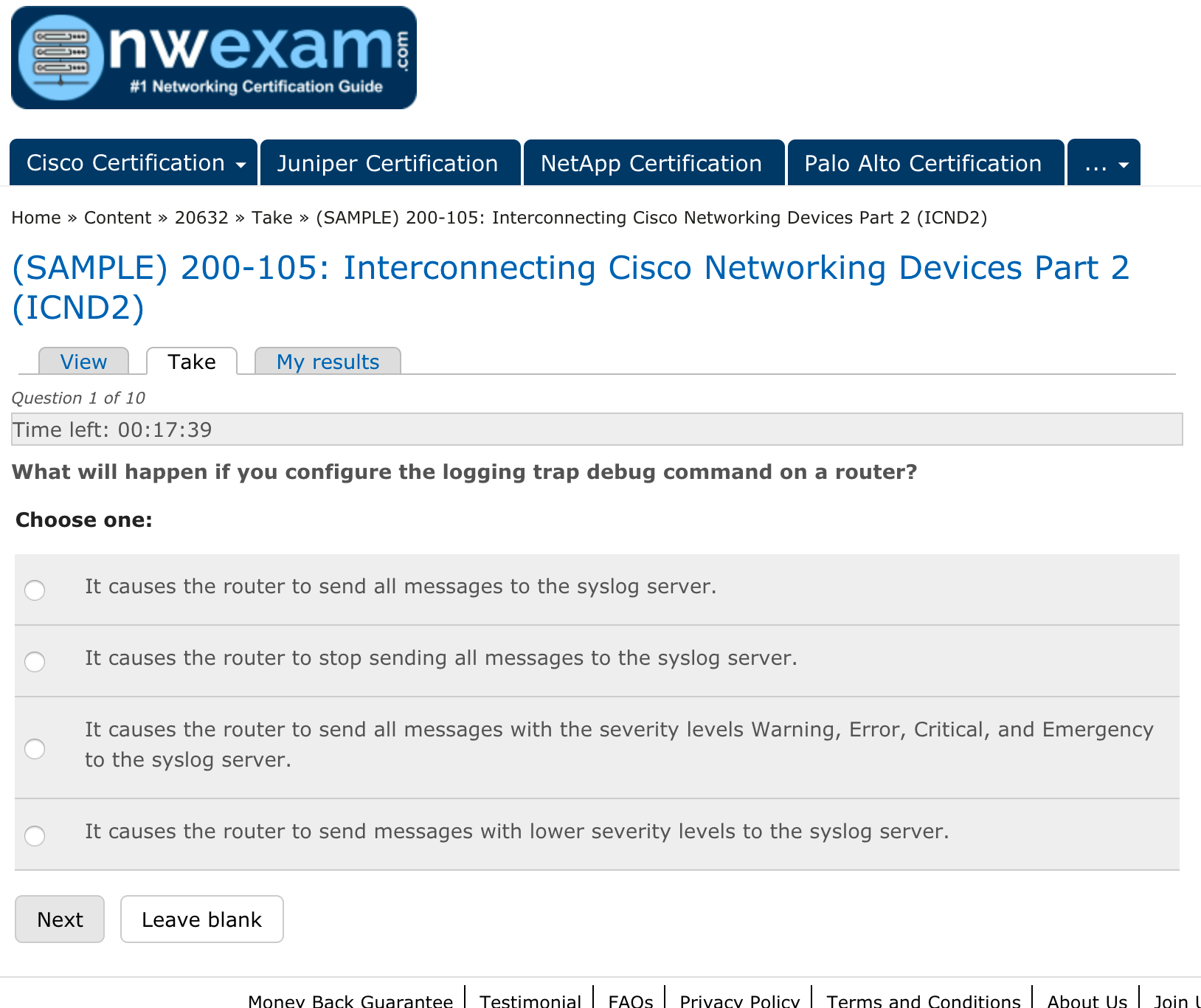 nwexam.com and its basic Interconnecting Cisco Networking Devices Part 2 certification questions