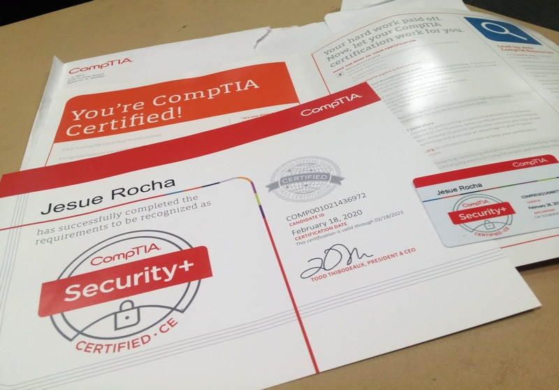 Thank you O2O for getting my Security+ certification for free