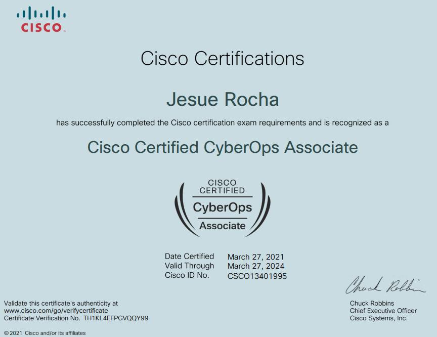 Cisco Certified CyberOps Associate Certification